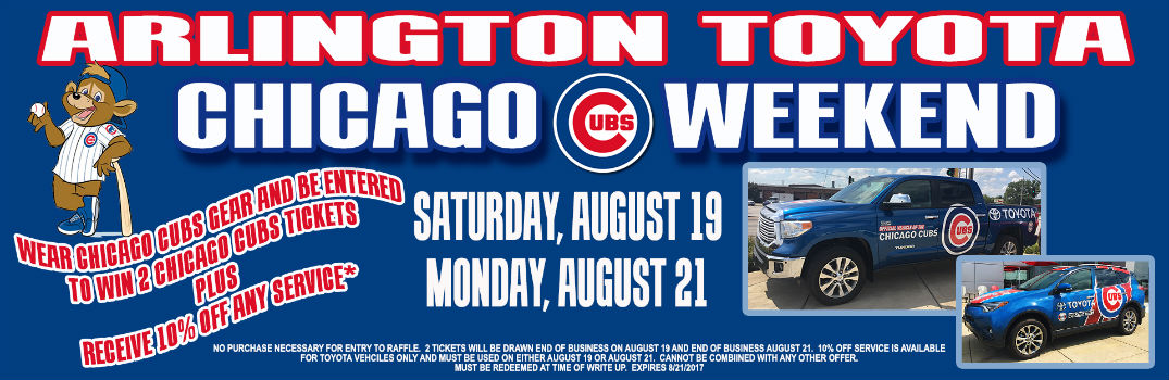 Arlington Toyota Chicago Cubs Weekend