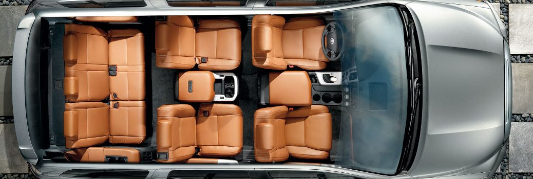 2018 Toyota Sequoia Aerial View Interior Cabin Seating