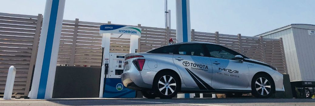 Toyota Mirai at Hydrogen Refueling Station Built in Oahu HI