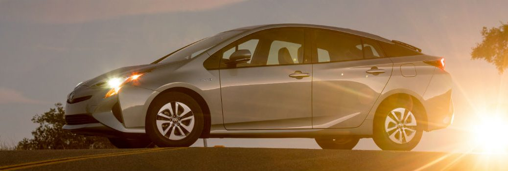 2018 Toyota Prius Exterior Driver Side Profile at Sunset