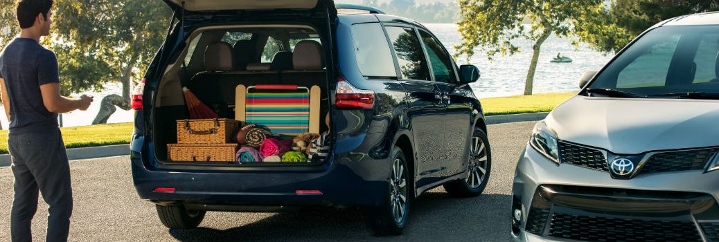 2019 Toyota Sienna Exterior Passenger Side Rear Angle Open Tailgate