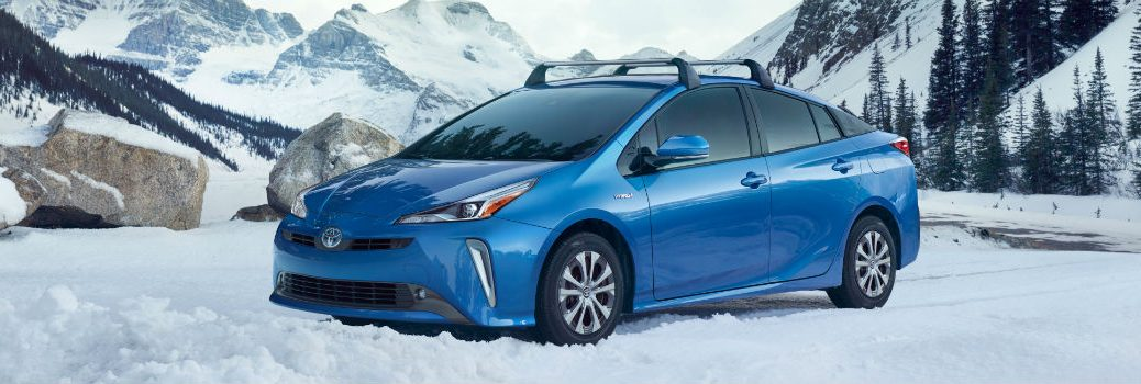 2019 Toyota Prius Exterior Driver Side Front Profile in Snow