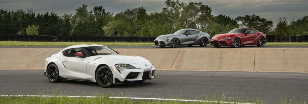 2020 Toyota Supra Exterior Passenger Side Front and Driver Side Front Profiles