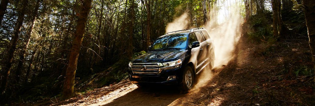 2019 Toyota Land Cruiser Exterior Driver Side Front Profile Downhill