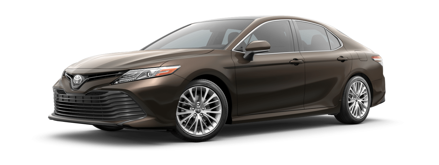 2019 Toyota Camry Exterior Driver Side Front Profile in Brownstone