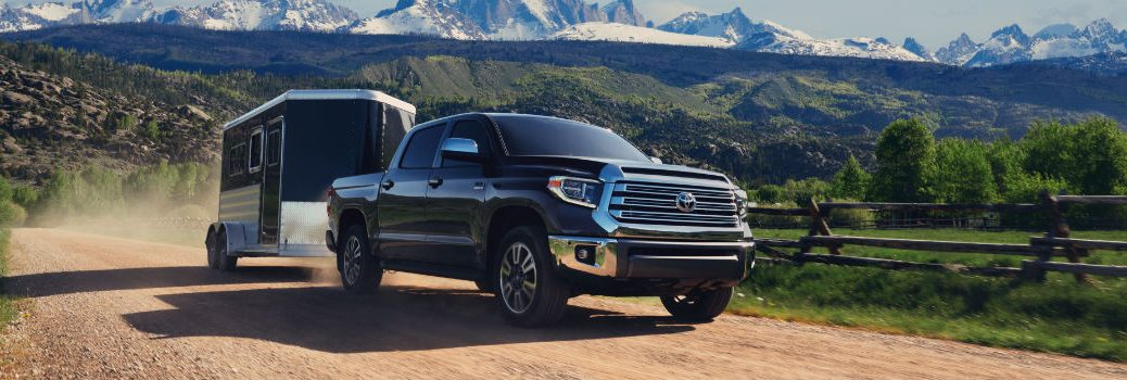 2020 Toyota Tundra Exterior Passenger Side Front Profile Towing Trailer