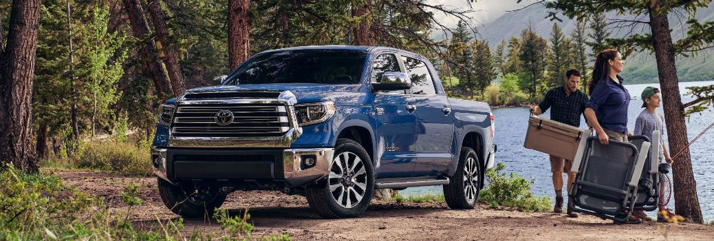 2020 Toyota Tundra Exterior Driver Side Front Profile in the Woods