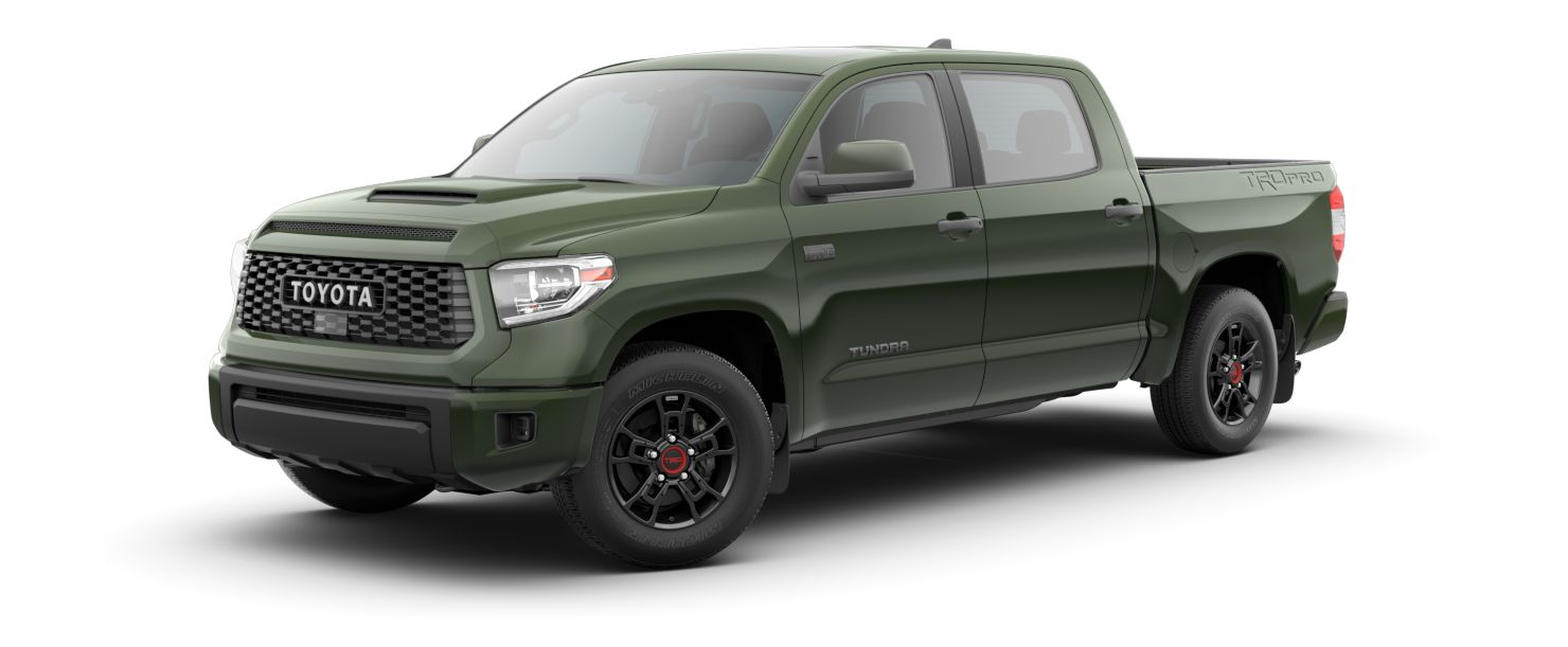 2020 Toyota Tundra Exterior Driver Side Front Profile in Army Green