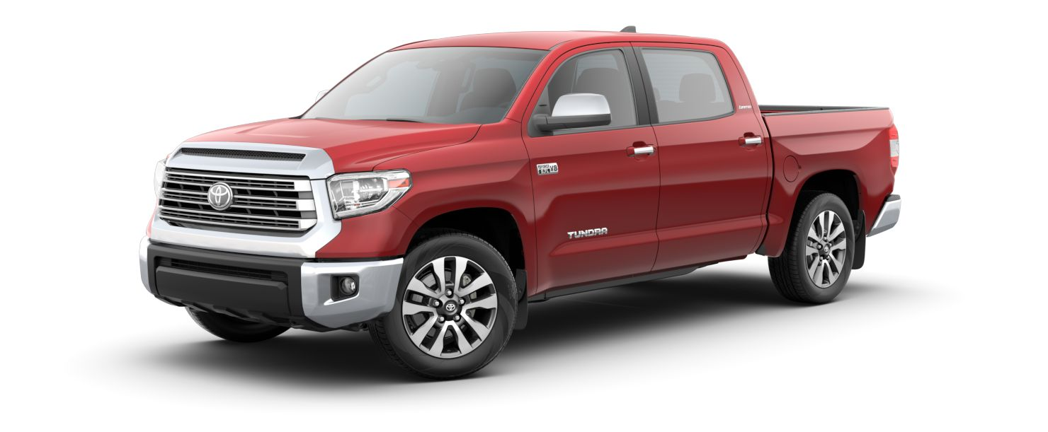 2020 Toyota Tundra Exterior Driver Side Front Profile in Barcelona Red Metallic