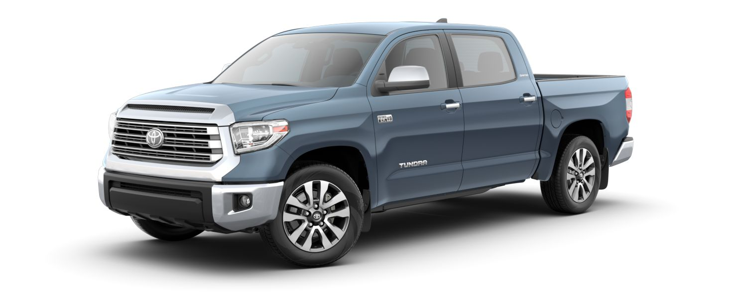 2020 Toyota Tundra Exterior Driver Side Front Profile in Cavalry Blue