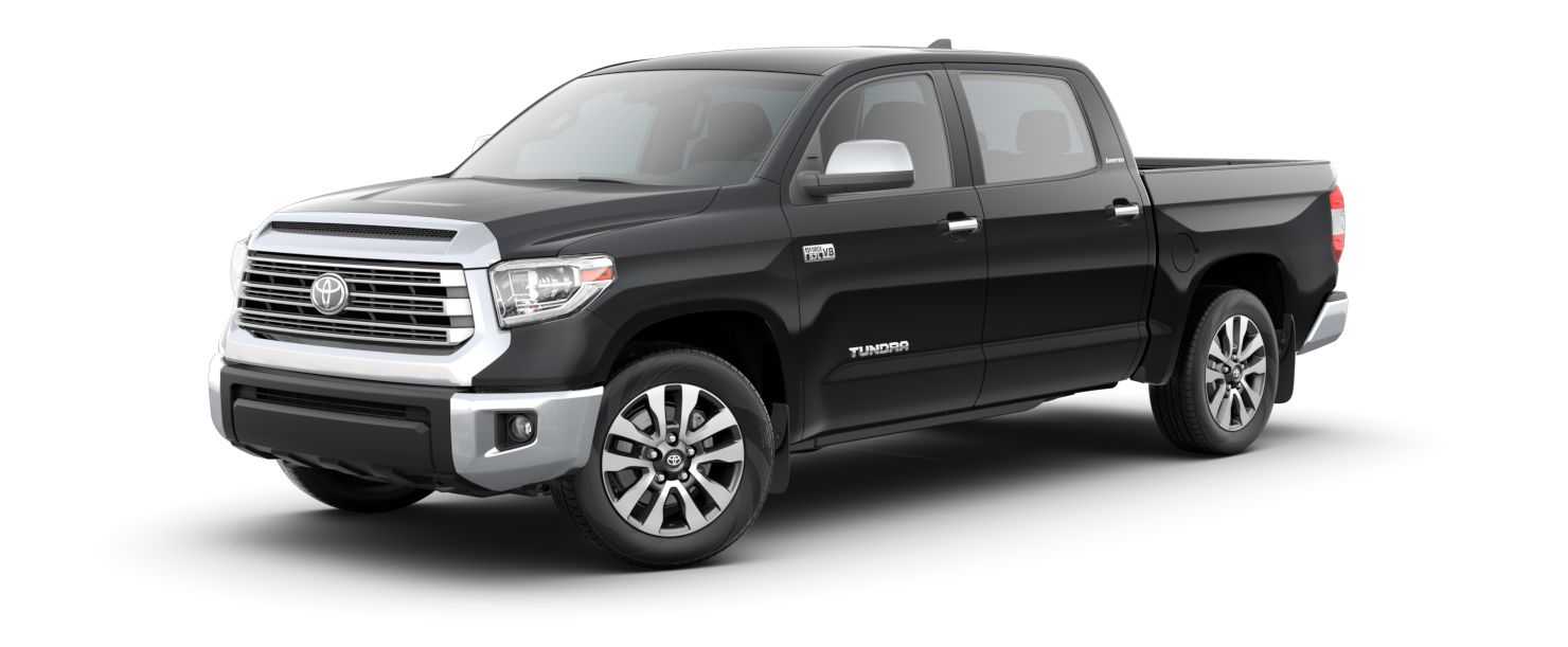 2020 Toyota Tundra Exterior Driver Side Front Profile in Midnight Black Metallic