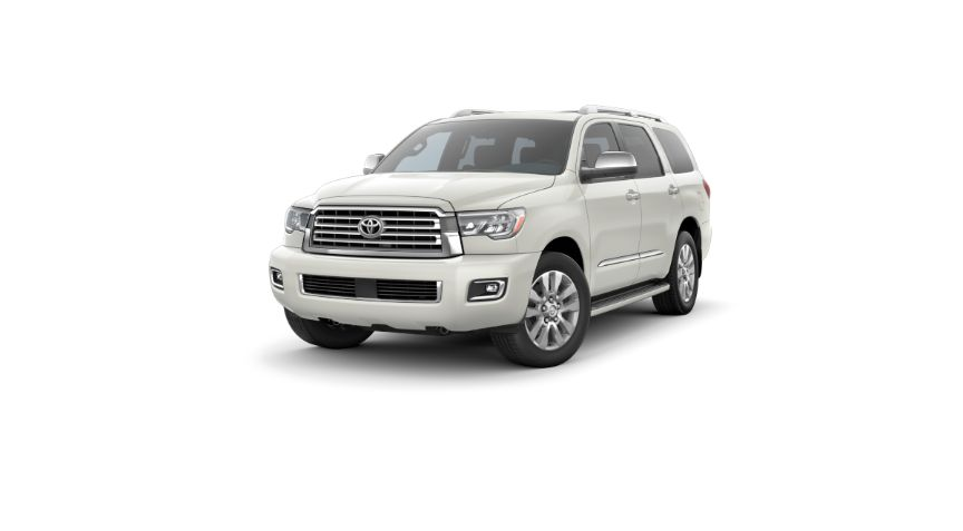 2020 Toyota Sequoia Exterior Driver Side Front Angle Blizzard Pearl