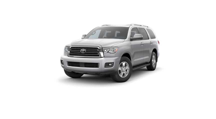 2020 Toyota Sequoia Exterior Driver Side Front Angle Celestial Silver Metallic