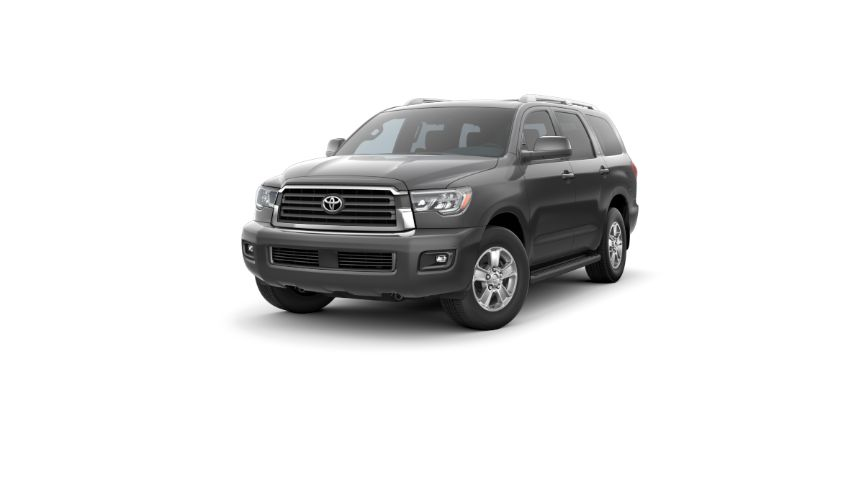 2020 Toyota Sequoia Exterior Driver Side Front Angle Magnetic Gray metallic