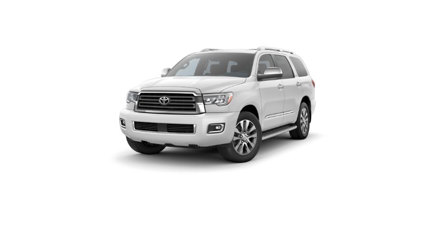 2020 Toyota Sequoia Exterior Driver Side Front Angle Super White