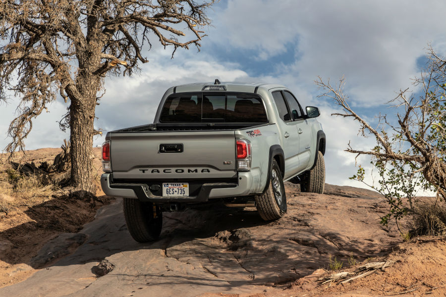 2020 Toyota Tacoma TRD Off-Road Exterior Passenger Side Rear Angle