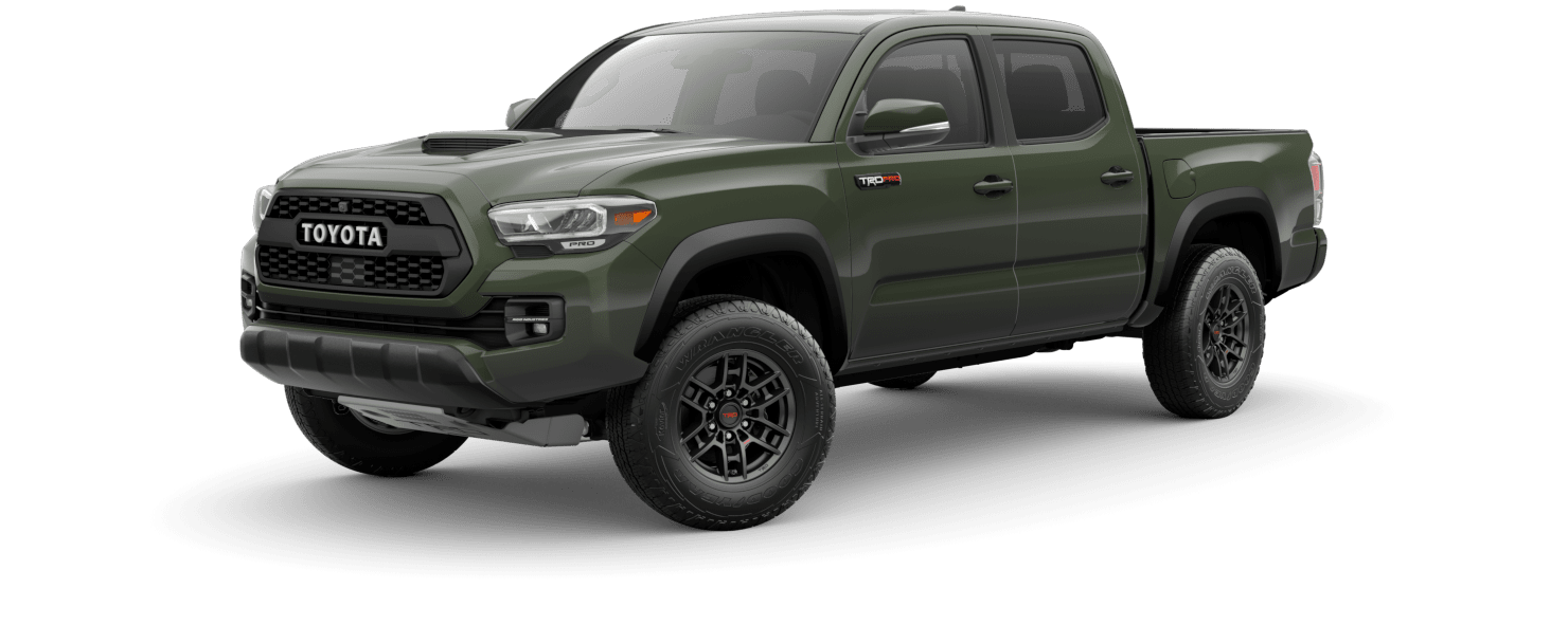2020 Toyota Tacoma Exterior Driver Side Front Profile in Army Green
