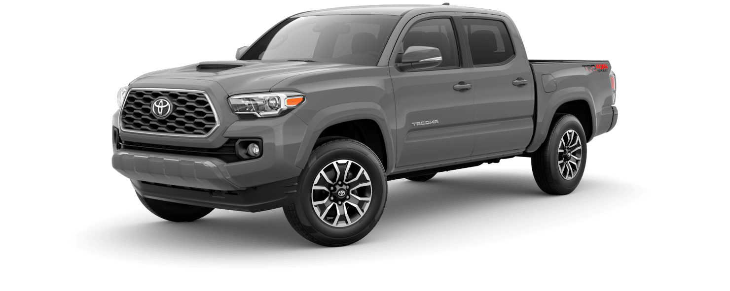 2020 Toyota Tacoma Exterior Driver Side Front Profile in Cement