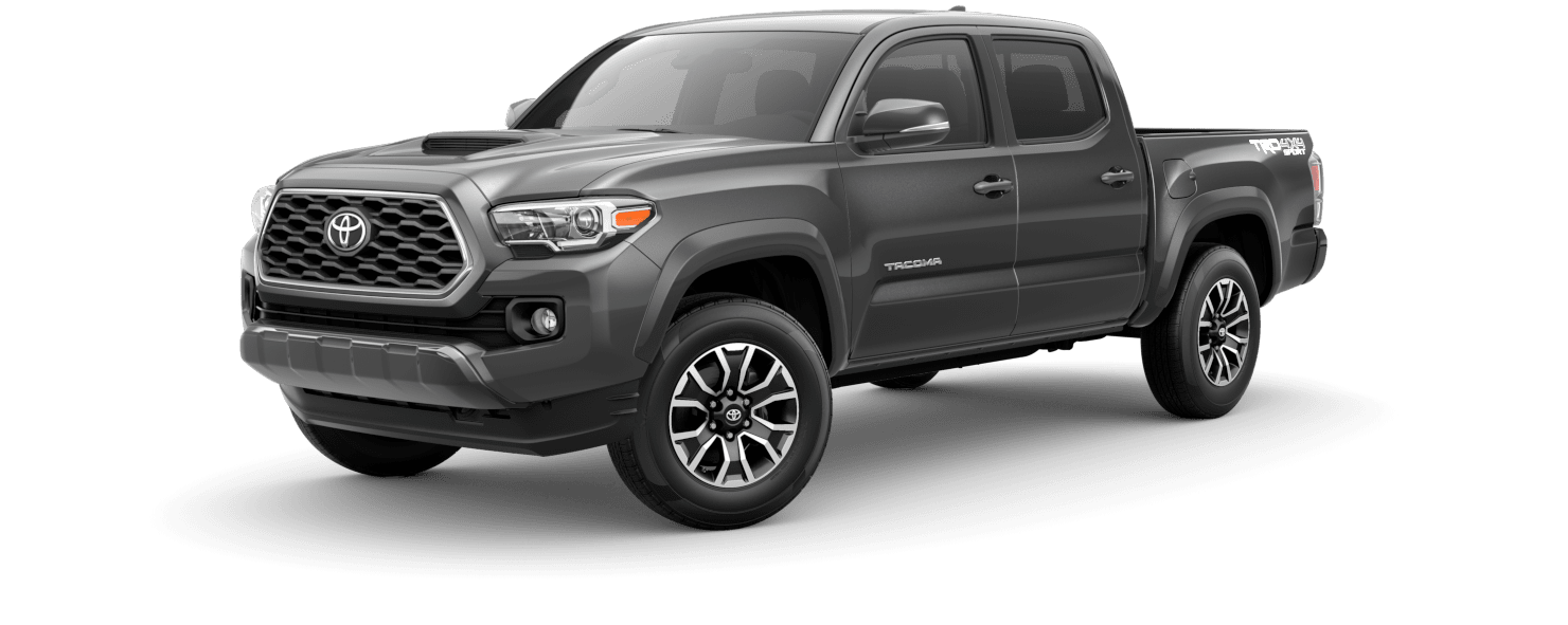 2020 Toyota Tacoma Exterior Driver Side Front Profile in Magnetic Gray Metallic