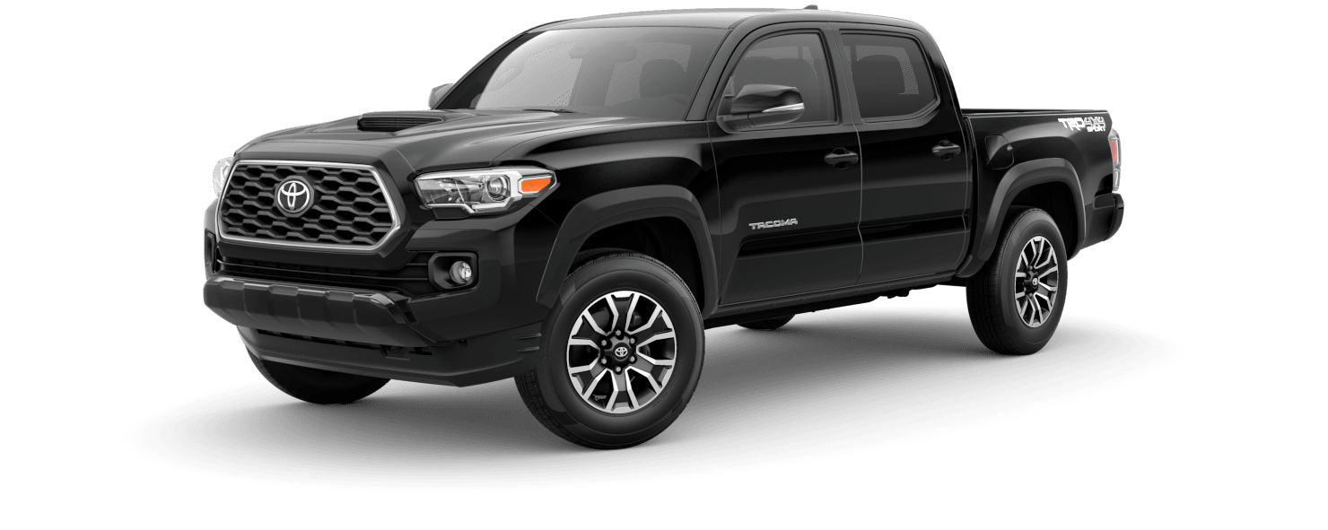 2020 Toyota Tacoma Exterior Driver Side Front Profile in Midnight Black Metallic