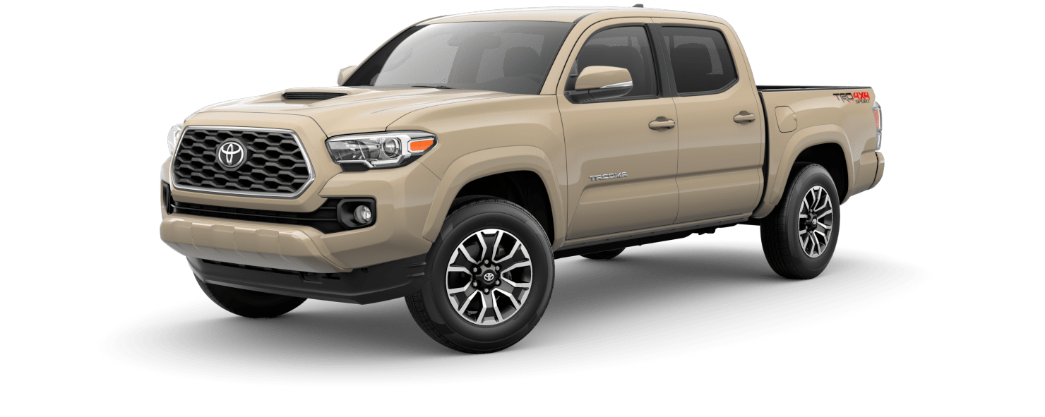 2020 Toyota Tacoma Exterior Driver Side Front Profile in Quicksand