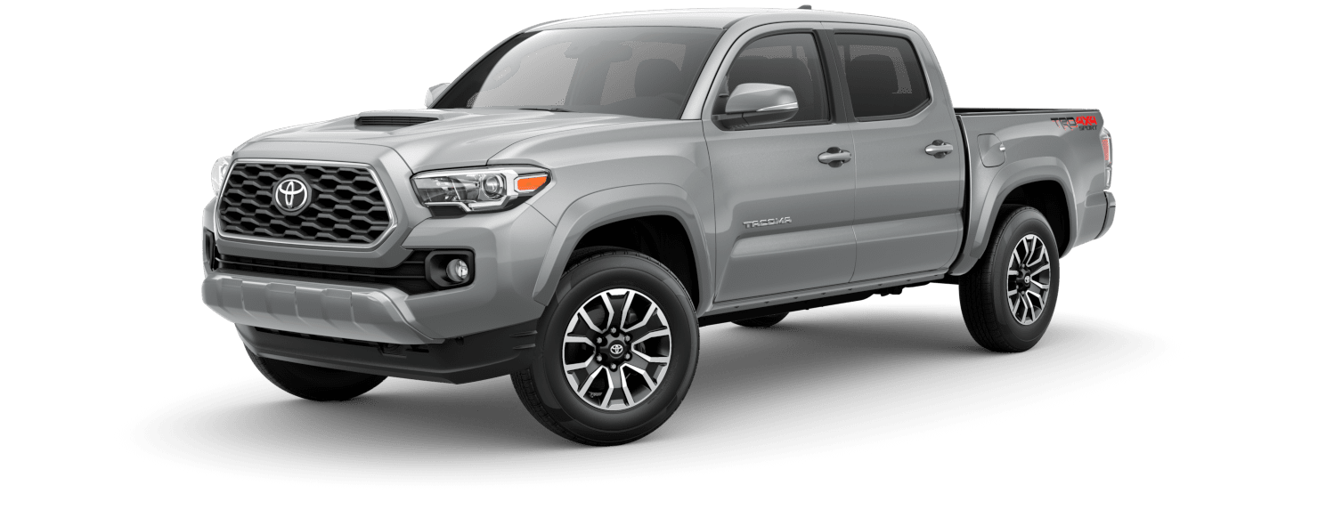 2020 Toyota Tacoma Exterior Driver Side Front Profile in Silver Sky Metallic