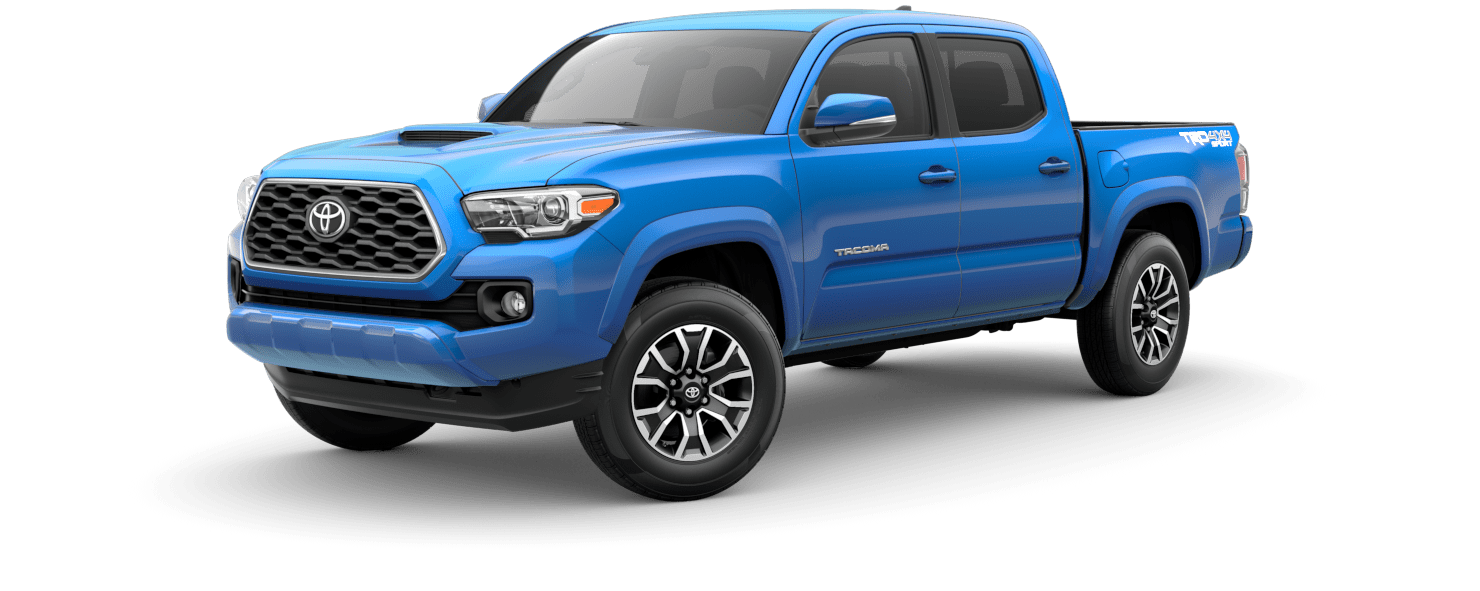 2020 Toyota Tacoma Exterior Driver Side Front Profile in Voodoo Blue