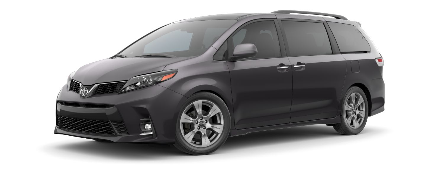 2020 Toyota Sienna Exterior Driver Side Front Profile in Predawn Gray Mica