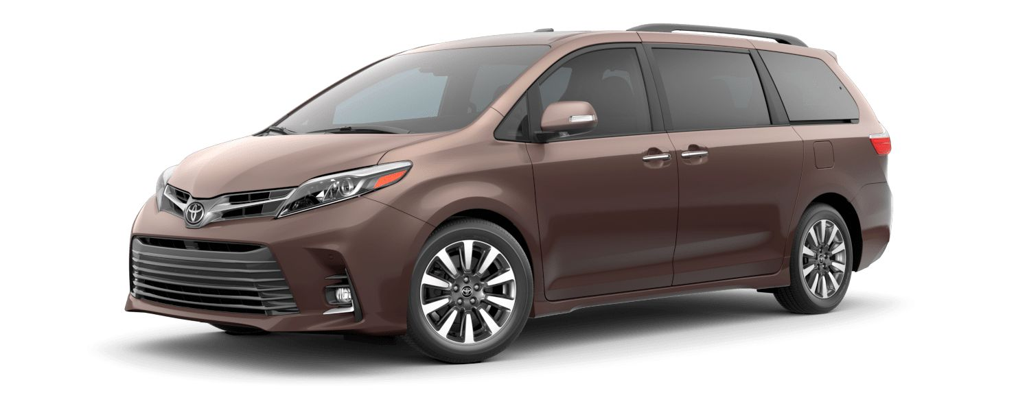 2020 Toyota Sienna Exterior Driver Side Front Profile in Toasted Walnut Pearl
