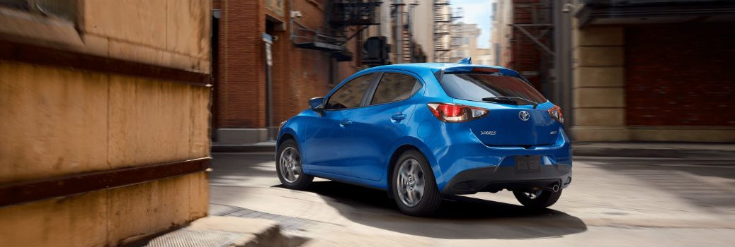 2020 Toyota Yaris Hatchback Exterior Driver Side Rear Profile