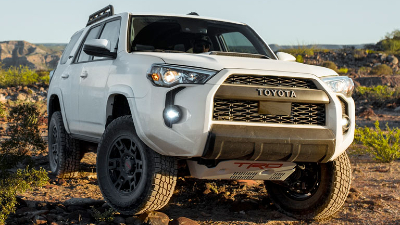 2020 Toyota 4Runner parked on a rock
