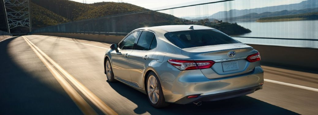 2020 Camry driving across a bridge