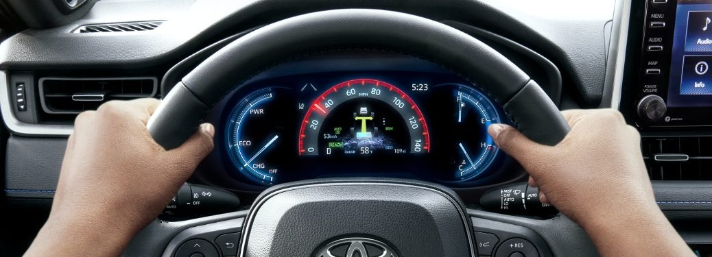 2020 RAV4 digital speedometer