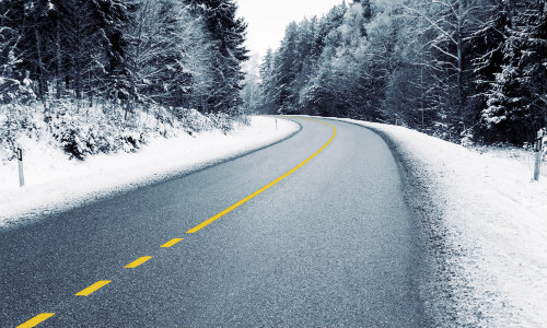 Winter Road in the Country