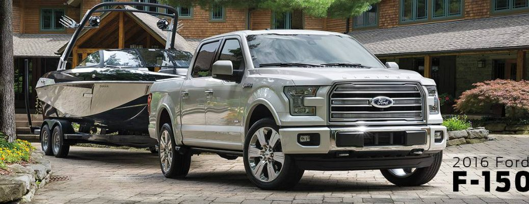 2016 Ford F-150 towing a boat