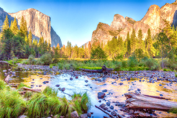 Yosemite National Park during the Golden Hour