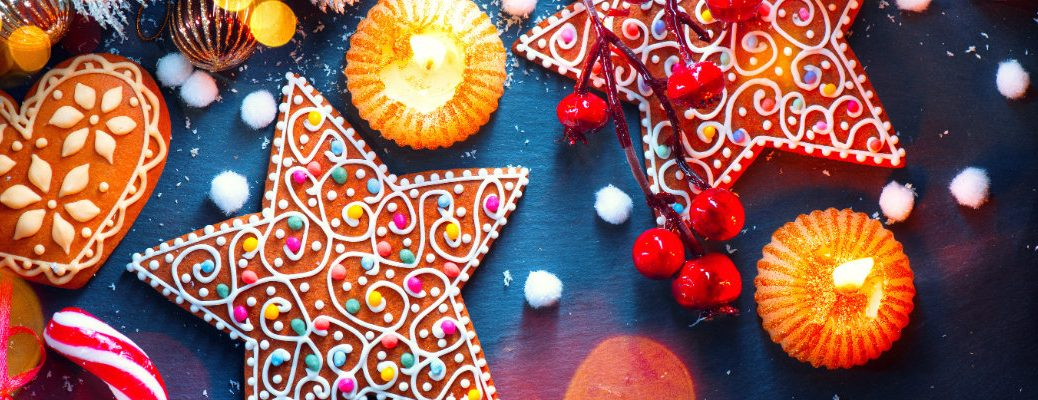 Colorful Christmas cookies