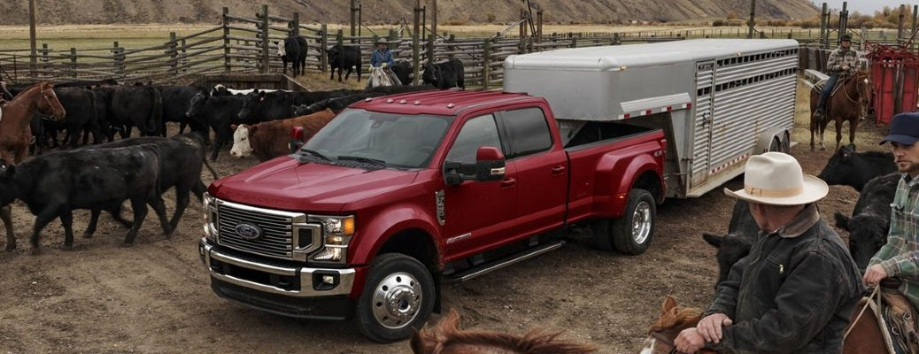 Red Ford Super Duty Truck