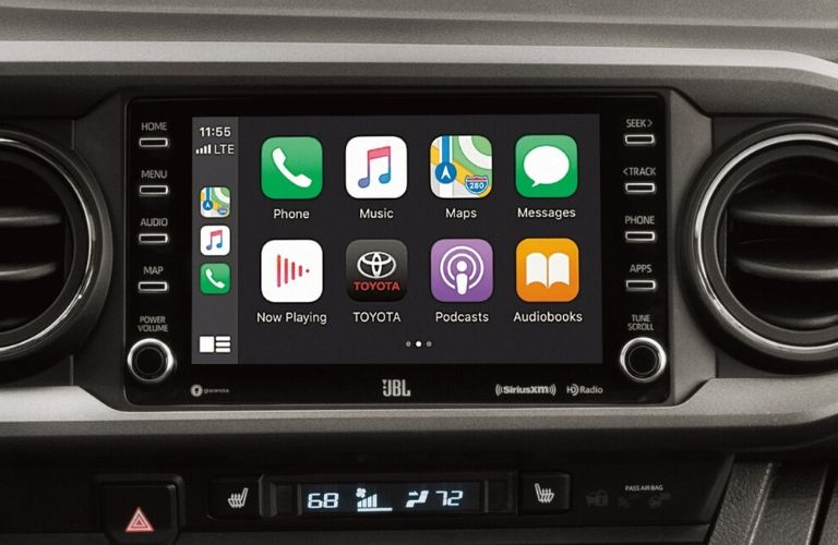2020 Toyota Tacoma dash and screen view