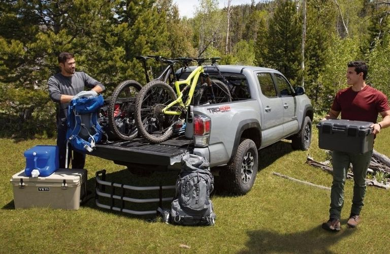 2020 Toyota Tacoma parked outside cargo view
