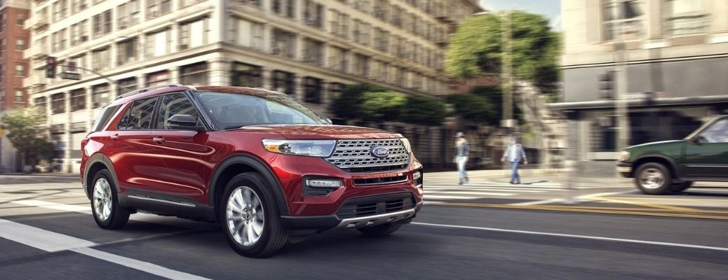 2020 Ford Explorer driving on the road