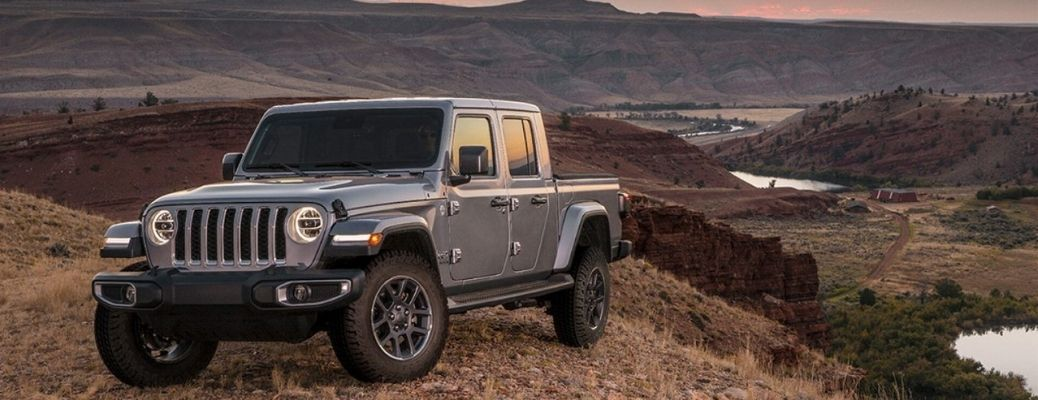 2020 Jeep Gladiator parked on a hill