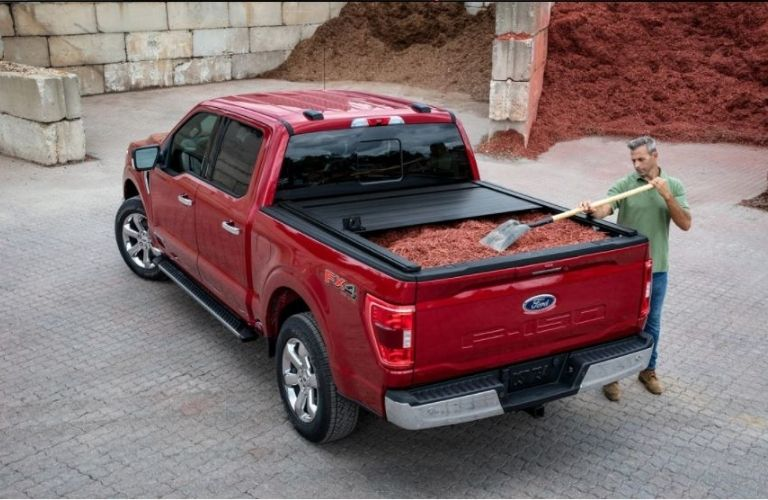2021 Ford F-150 being filled with payload