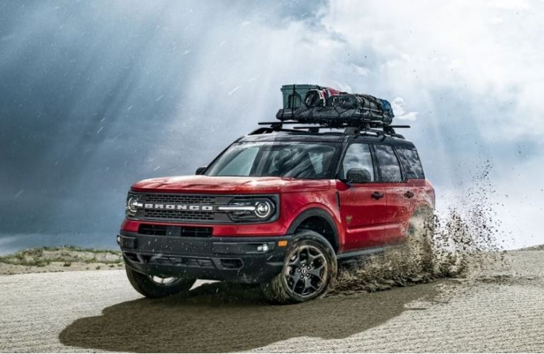 2021 Ford Bronco Sport driving on snow