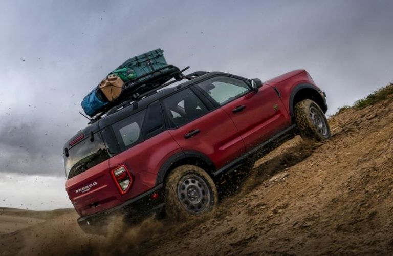 2021 Ford Bronco Sport driving on a hill