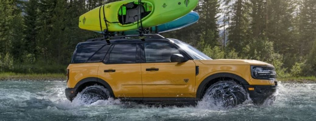 2021 Ford Bronco Sport in water