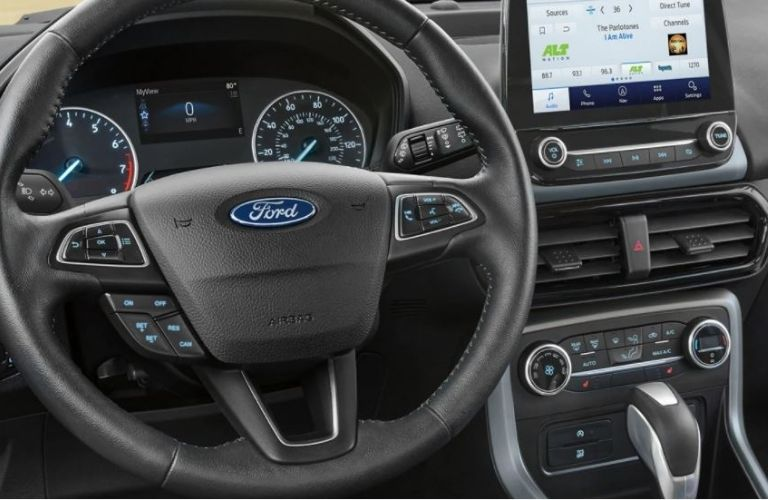 2021 Ford EcoSport wheel and dash