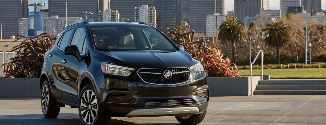 A 2021 Buick Encore on the road