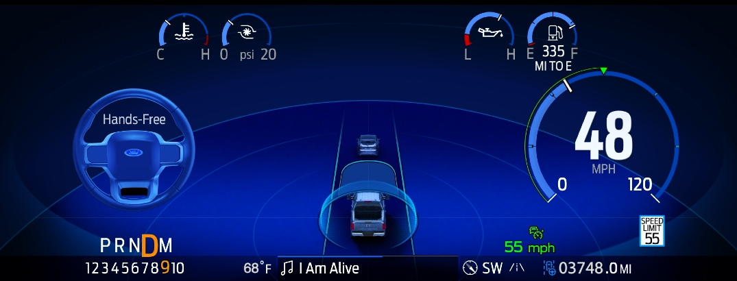 What is the BlueCruise Hands-Free Driving feature in my Ford?
