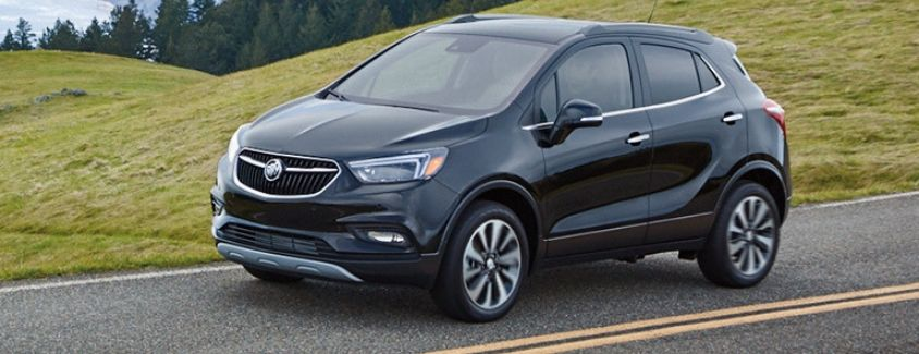 Exterior view of a blue 2019 Buick Encore